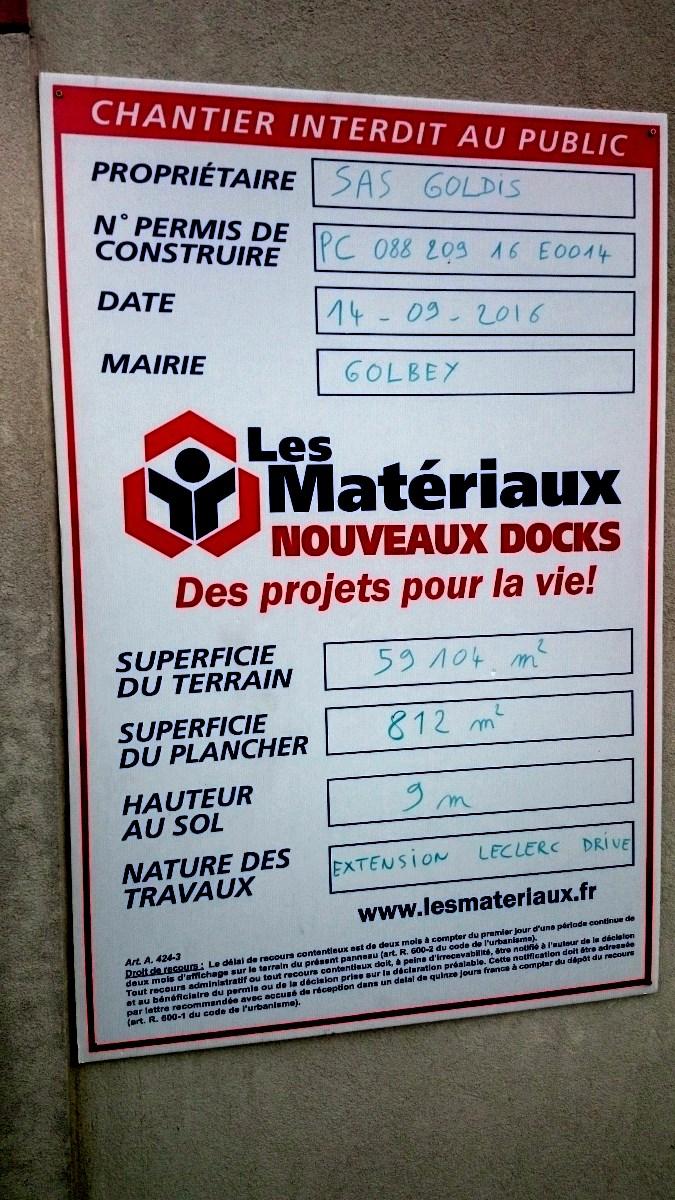 Agrandissement du drive Leclerc à Golbey.