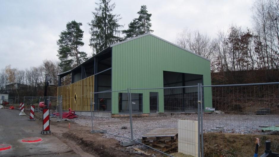 Construction d'un centre technique municipal à Chantraine.