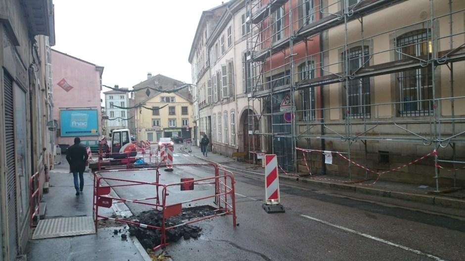 Travaux rue d'Ambrail.
