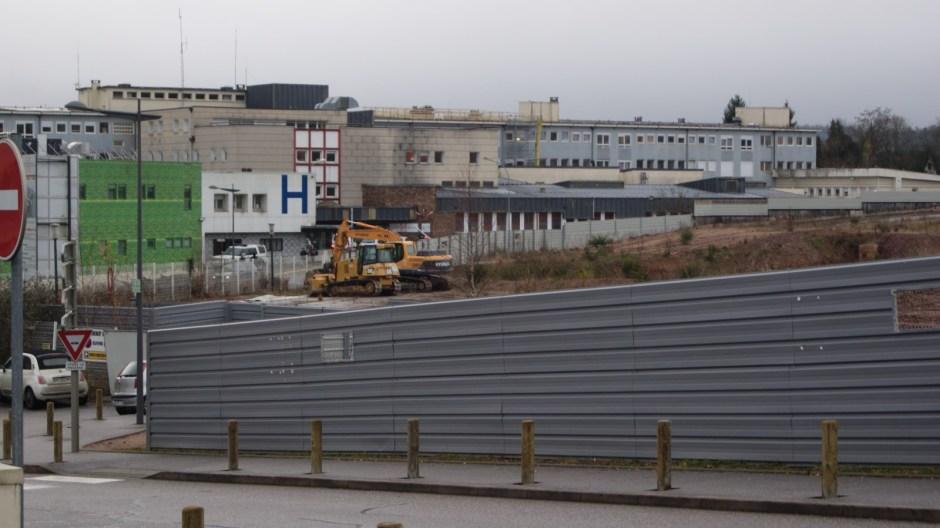 Le chantier de l'hôpital d'Epinal redémarre.