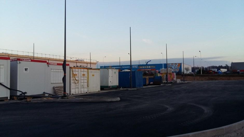 Le nouveau LIDL de Neufchâteau est en construction.