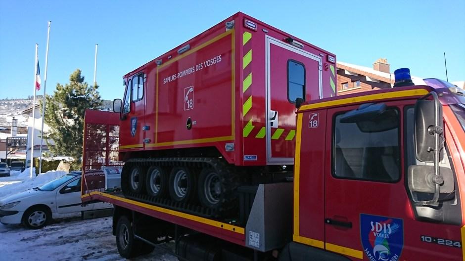 Nouvelle chenilette pour les pompiers de Gérardmer.